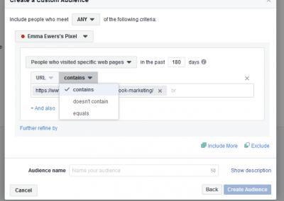 Facebook Pixel 5 example 2